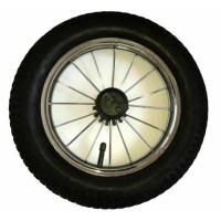Колесо 12 дюймов со спицами для колясок (Lonex, Roan, Jedo, Tako и др.) Хромированный диск