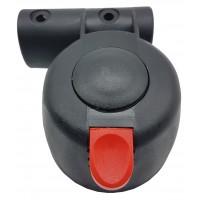 Блок крепление поворотного колеса тип 7 (ось10 мм, труба 20х30 мм)