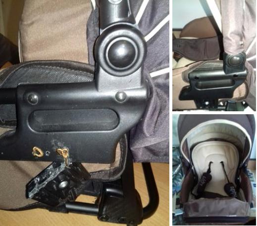 до и после ремонта коляски